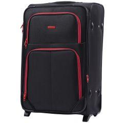 Sada 3 textilních kufrů WINGS 214 DOUBLE BLACK L/M/S E-batoh