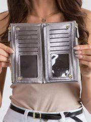Prostorná stříbrná dámská peněženka v krabičce MILANO DESIGN E-batoh