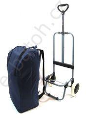 Nákupní termo taška-batoh na kolečkách modrá