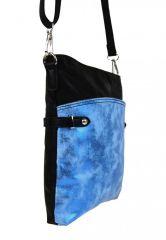 Elegantní malá dámská crossbody kabelka 16216 modro-černá Tapple E-batoh