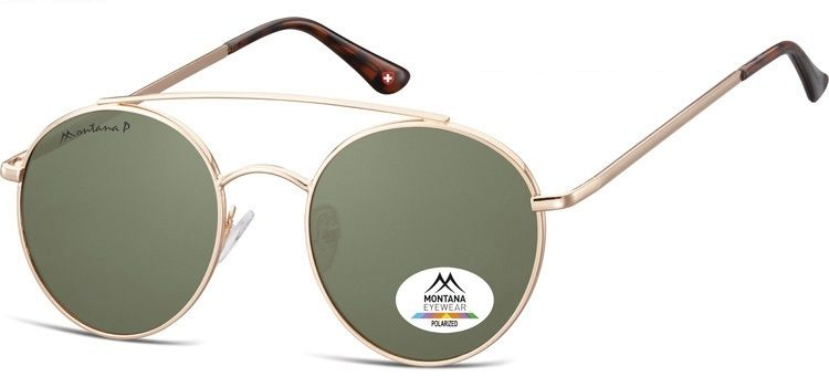 Polarizační brýle MONTANA MP84B green lenses (Flat lenses) Cat.3 + pouzdro