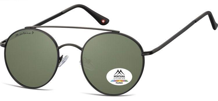 Polarizační brýle MONTANA MP84E green lenses (Flat lenses) Cat.3 + pouzdro
