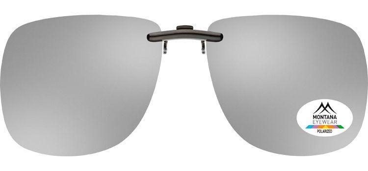Polarizační KLIP NA BRÝLE C13 zrcadlová stříbrná čočka