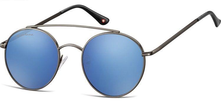 Sluneční brýle MONTANA MS84 Cat.3 Revo blue (Flat lenses) + pouzdro