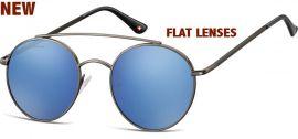 Sluneční brýle MONTANA MS84 Cat.3 Revo blue (Flat lenses) + pouzdro MONTANA EYEWEAR E-batoh