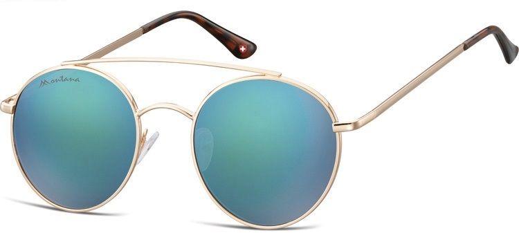 Sluneční brýle MONTANA MS84C Cat.3 Revo green (Flat lenses) + pouzdro