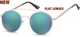 Sluneční brýle MONTANA MS84C Cat.3 Revo green (Flat lenses) + pouzdro MONTANA EYEWEAR E-batoh