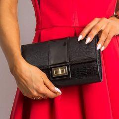 Černé dámské psaníčko / kabelka v hadím designu W66 ROVICKY