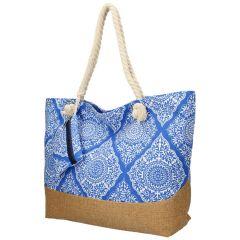 Velká modrá plážová taška přes rameno B6802