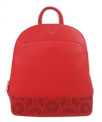 Červený elegantní dámský batoh / kabelka 5234-TS