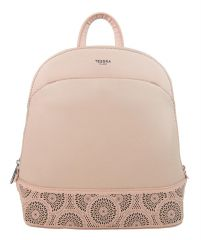 Růžový elegantní dámský batoh / kabelka 5234-TS
