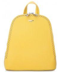 Žlutý dámský batůžek / kabelka se dvěma oddíly