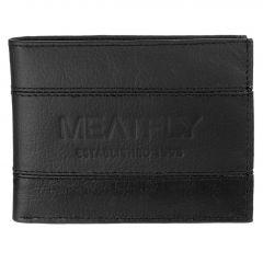 Pánská peněženka Meatfly Hurricane A - Black Leather