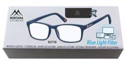 Brýle na počítač BLF BOX 73B BLUE s dioptrií +1,00
