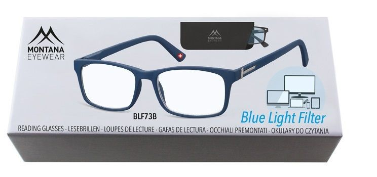 Brýle na počítač BLF BOX 73B BLUE s dioptrií +2,00