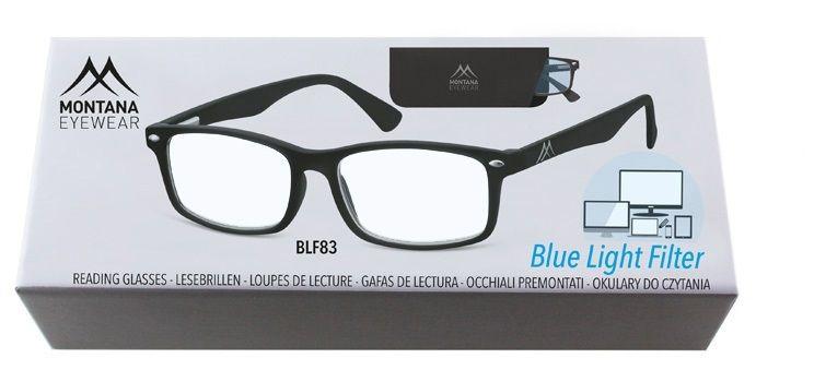 MONTANA EYEWEAR Brýle na počítač BLFBOX83 BLACK +1.50