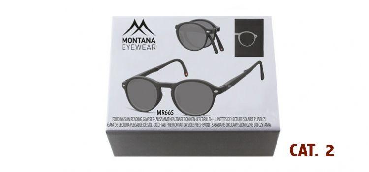 MONTANA EYEWEAR SKLÁDACÍ zabarvené dioptrické brýle BOX66S BLACK+2,00