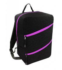 Příruční zavazadlo - batoh pro RYANAIR 40x25x20 BLACK-PINK