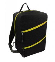 Příruční zavazadlo - batoh pro RYANAIR 40x25x20 BLACK-YELLOW
