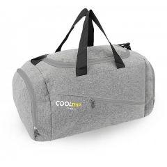Sportovní taška RODOS 28 - šedá+šedý zip 40L