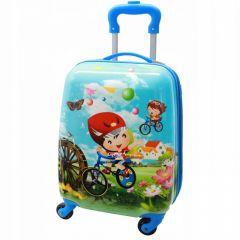 Dětský skořepinový kufřík - Cyklista