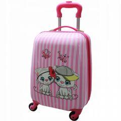 Dětský skořepinový kufřík - Kočky