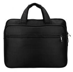 Pánská taška pro notebook 15,6 palce černá se třemi sekcemi
