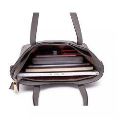 Praktický dámský kabelkový set 2v1 Miss Lulu šedá Lulu Bags (Anglie) E-batoh
