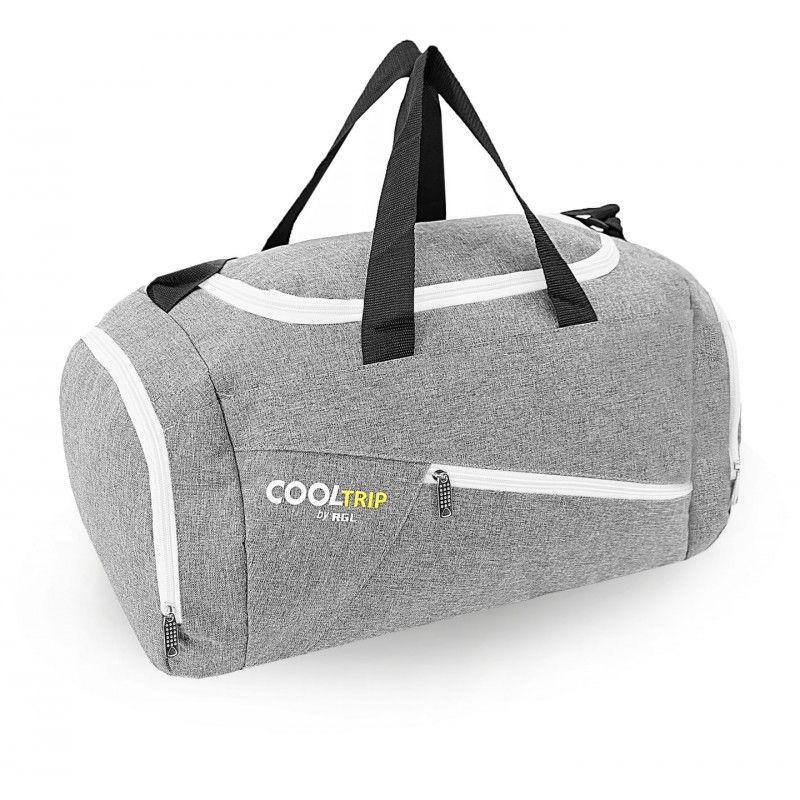 Sportovní taška RODOS 28 - šedá+bíly zyp 40L