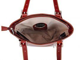 Velká bordová kožená dámská kabelka přes rameno L Artigiano L'Artigiano della Pelle E-batoh