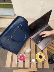 """Dámská luxusní taška na notebook černý lak kroko ST01 15.6"""" GROSSO E-batoh"""
