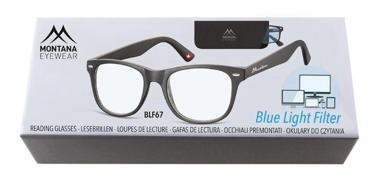 Brýle na počítač BLF BOX 67 BLACK +3,50 MONTANA EYEWEAR E-batoh