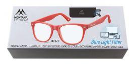 Brýle na počítač BLF BOX 67F RED bez dioptrií
