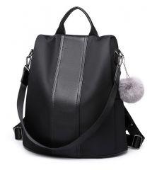Černý dámský batoh / kabelka přes rameno Miss Lulu