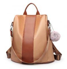 Hnědý dámský batoh / kabelka přes rameno Miss Lulu