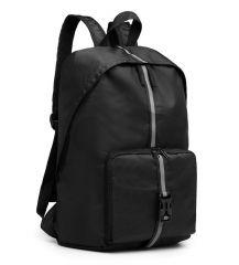 KONO Černý lehký skládací cestovní nepromokavý batoh s reflexním páskem
