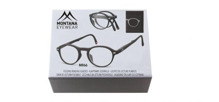 MONTANA EYEWEAR SKLÁDACÍ dioptrické brýle BOX66 BLACK+2,50