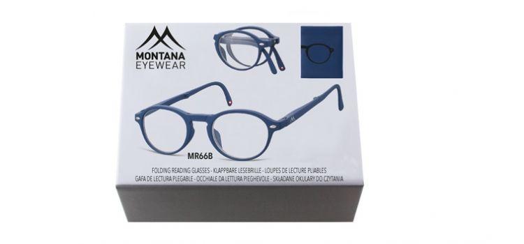 MONTANA EYEWEAR SKLÁDACÍ dioptrické brýle BOX66B BLUE +3,50
