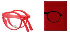 SKLÁDACÍ dioptrické brýle BOX66C RED +2,50 MONTANA EYEWEAR E-batoh