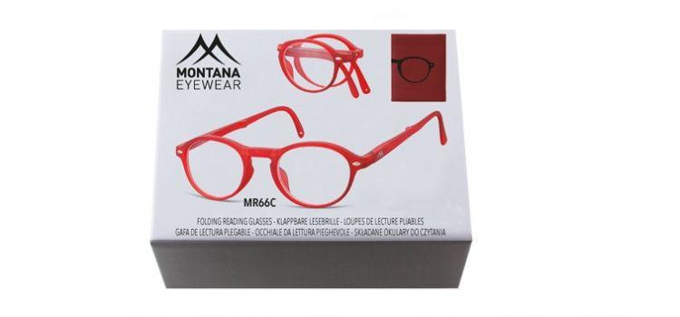 MONTANA EYEWEAR SKLÁDACÍ dioptrické brýle BOX66C RED +3,00