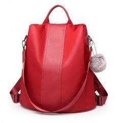 Tmavě červený dámský batoh / kabelka přes rameno Miss Lulu