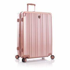 Elegantní skořepinový kufr na čtyřech kolečkách Heys DuoTrak L Rose Gold