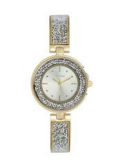 Skyline Náramkové dámské hodinky zlaté s kamínky 9550-5