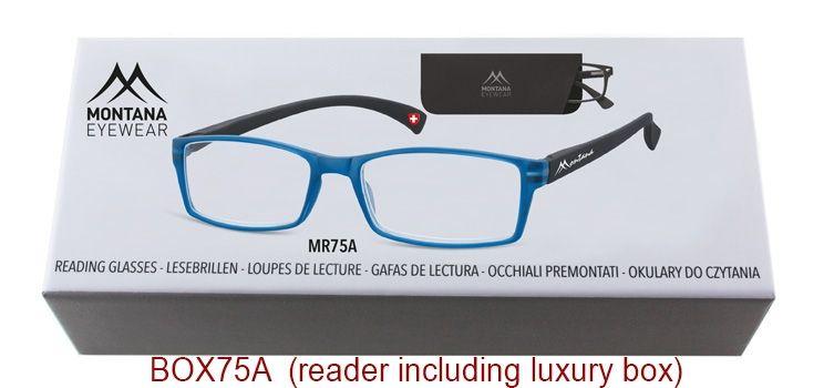 MONTANA EYEWEAR Dioptrické brýle BOX75A Blue/ +2,00