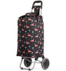 Nákupní taška na kolečkách HOPPA ST-375 - flamingo