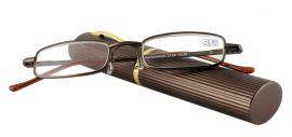 Dioptrické brýle v pouzdru Panorama 2134/ +2,75 hnědé