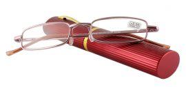 Dioptrické brýle v pouzdru Panorama 2134/ +3,75 červené