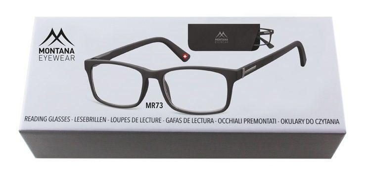 MONTANA EYEWEAR Dioptrické brýle BOX73 BLACK+3,50