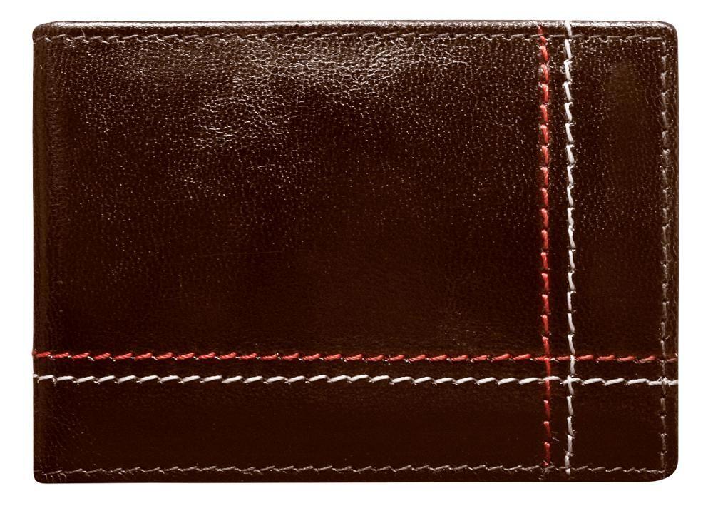 Wild Kožená hnědá menší pánská peněženka RFID v krabičce ALWAYS WILD