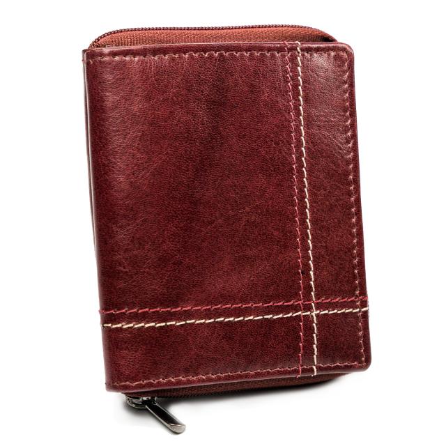 Wild Kožená vínová menší pánská peněženka RFID v krabičce ALWAYS WILD